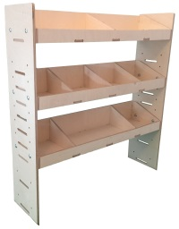 Van Ply Wood Shelving and Wood Van Racking Storage System 1087mm x 1000mm x 269mm - BVR1010263
